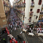 Running with the bulls in Pamplona, Spain: The San Fermin Festival