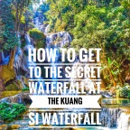 How To Get to the Secret Waterfall at The Kuang Si Waterfalls in Luang Prabang, Loas